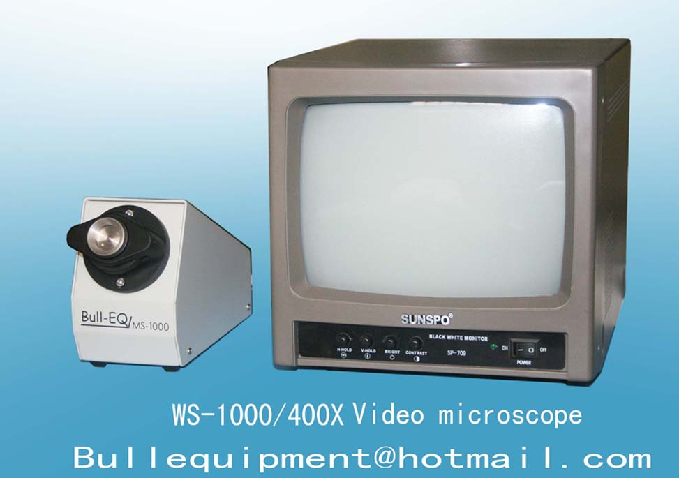 Video microscope for inspection surface of fiber