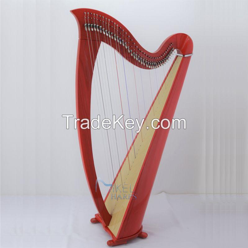 Saffron 38 Strings Lever Harp
