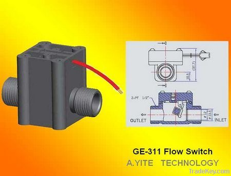 GE-311 Small Size Plastic Paddle Flow Switch