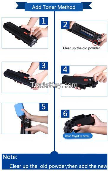 high quality black laser toner powder for HP CC388A P1108 P1106 P1007 P1008 M1136 M1213 M1216