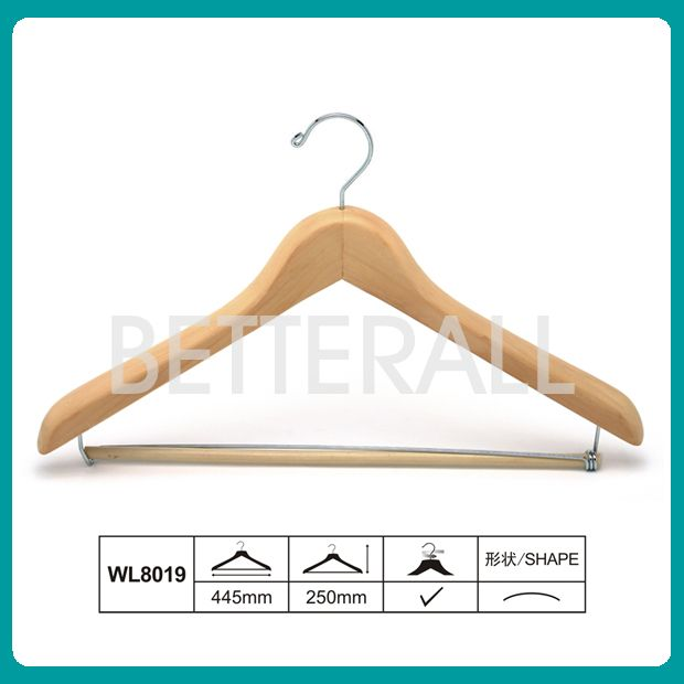 wooden coat hanger