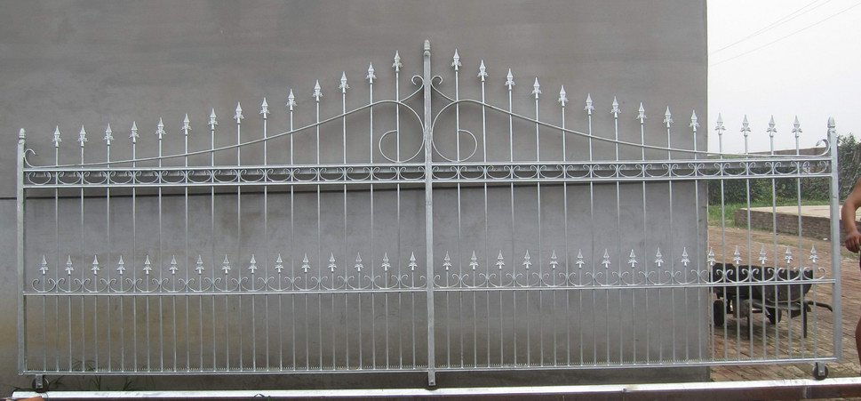 electric wrought iron  sliding gate
