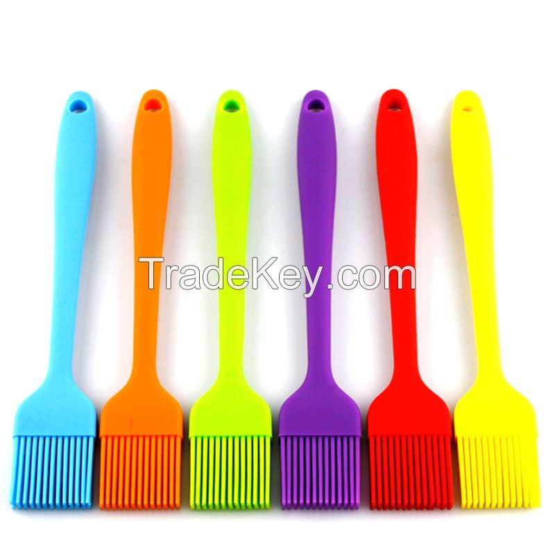 Food Grade Kitchen Brush with High Temperature Resistance, Use for BBQ Grilling Dessert Baking Marinating Silicone Basting Brush