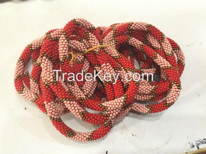 Red Beads Roll Bracelets
