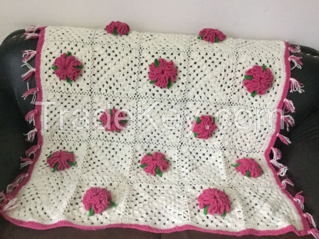 Crochet woolen Blanket