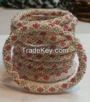 Flower Pattern Roll Bracelets