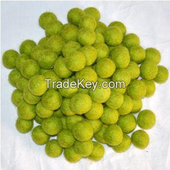 Felt  Green Balls