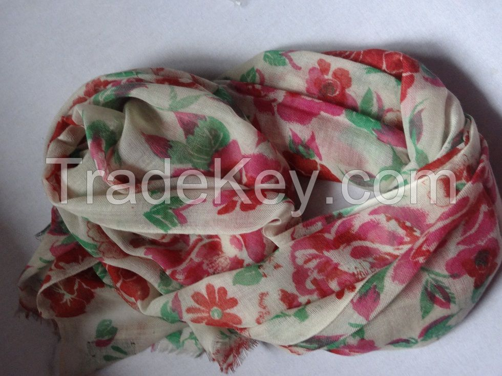 Printed wool Shawl- New Arrival