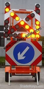 solar Arrow Signal board with movable trolly, solar movable traffic direction signal