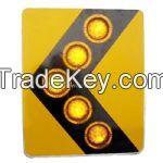 solar powered traffic LED signal arrow board