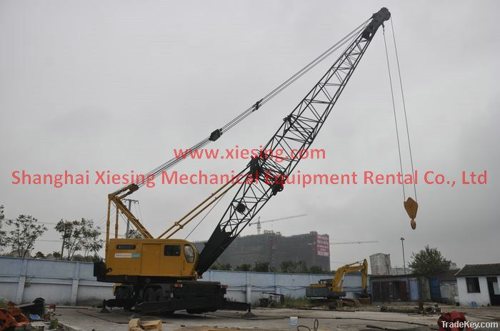 used p h 9125tc slewing truck mounted lattice boom cran by shanghai