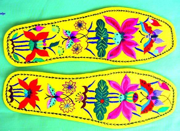 embroidery insole, shoe-pad, handicrafts, gifts, folk crafts, folk arts
