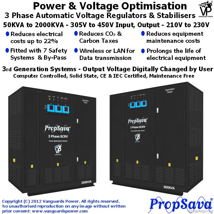 PropSava - 3 Phase Industrial Power Optimization System