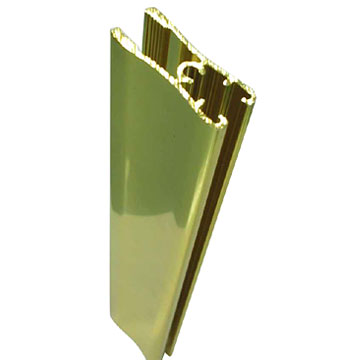 Aluminum Extruded Profiles for Windows and Doors: Golden Polish