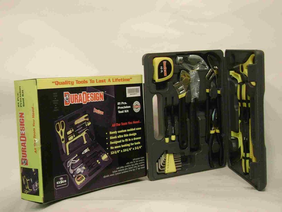 21 pcs DuraDesign Home Tool Kit