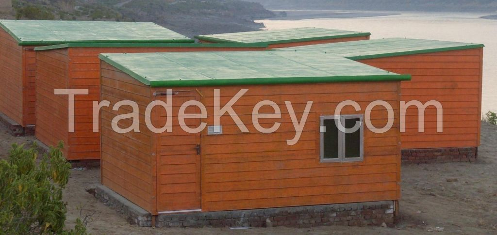 Prefabricated FRP/ GRP Portable Office Cabin, security post, toll booth