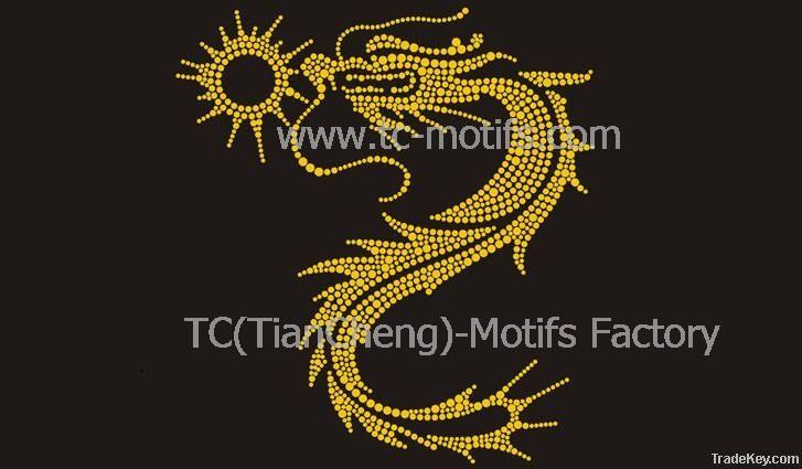 Hot Fix Motif Dragon Design