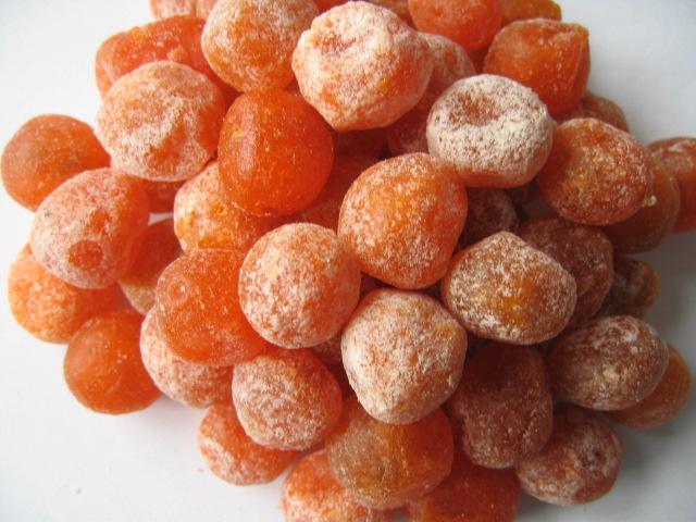 dried fruit: Dried apple rings, Dried peach halves, Dried xxxxx