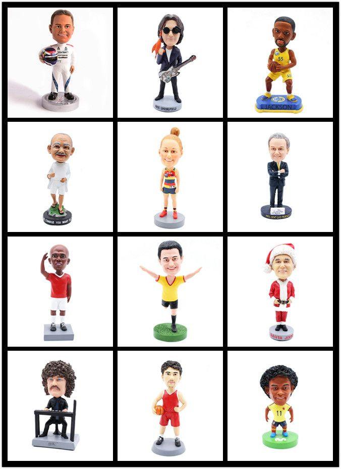 OEM custom resin figurine star basketball players bobble head model shaking head figurine