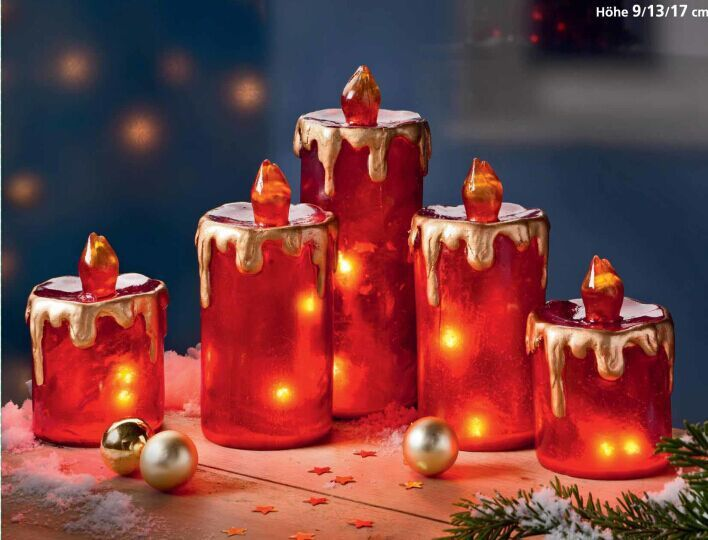 OEM christmas flameless candles different inch set of  Ivory Dripless Real Wax Pillars Include realistic dancing led flames 10key remote control with 24-hour timer cuntion 400+hours by 2AA batteries