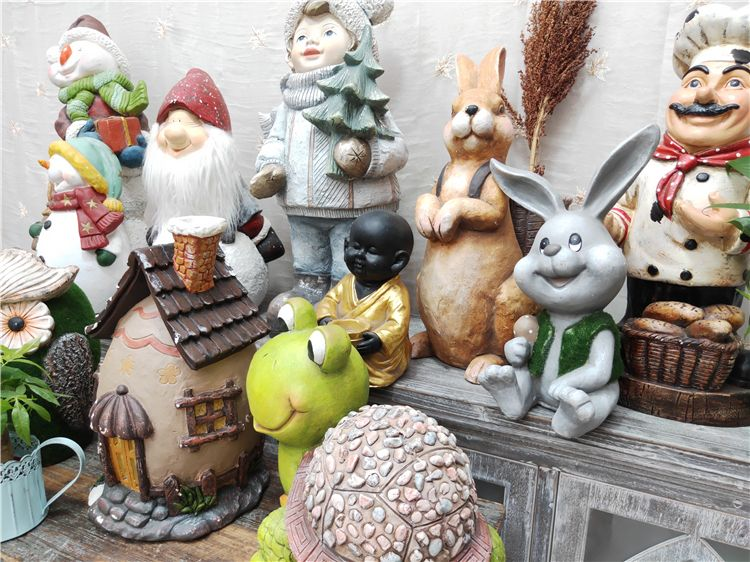 OEM creative ornaments fresin home decoration resin crafts gifts decor ornaments customized kinds of resin animal statue outdoor,garden christmas decor