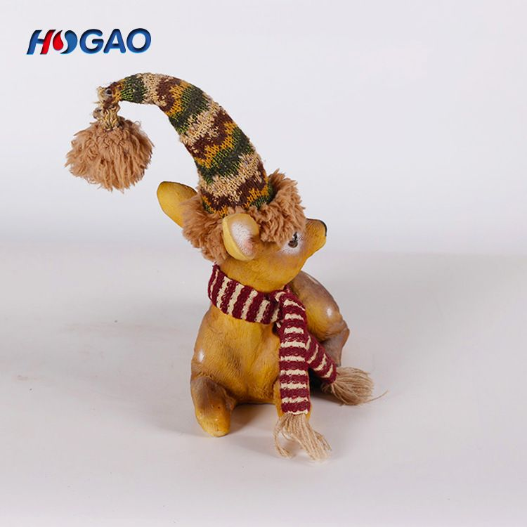 customized resin christmas holiday gift animal decoration resin deer animal statue