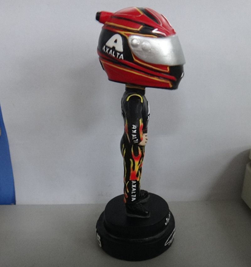 OEM chinese factory custom racing driver bobble heads ,bobblehead resin