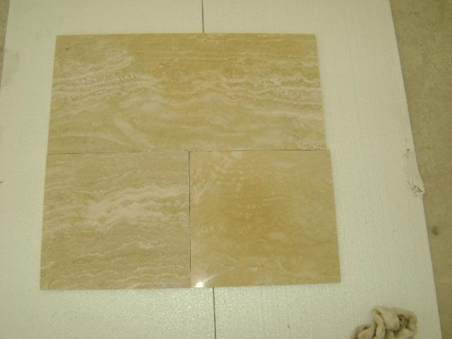 Vein-cut travertine tiles
