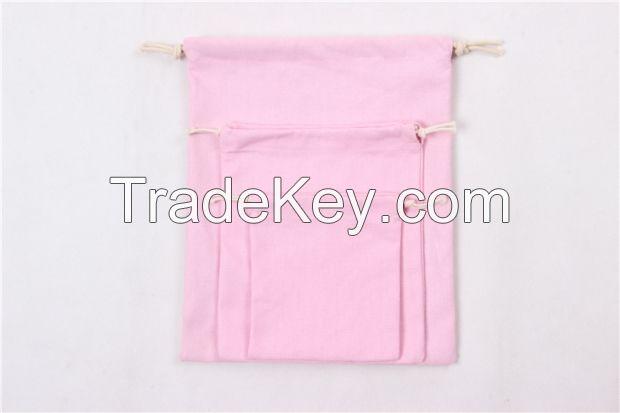 Canvas Storage Bag Natural Color Gift Bag Drawstring Bag Cotton Fabric Pouches