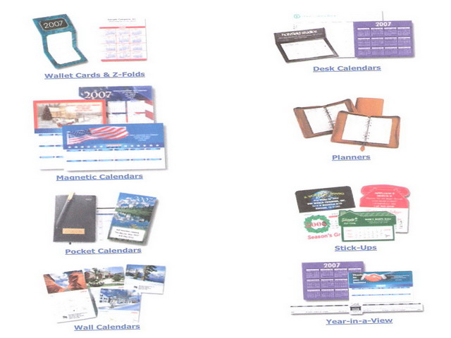 Corporate Promotion Items Calendars