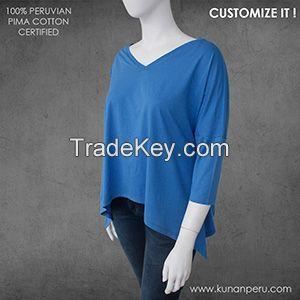 100% pima cotton top for women