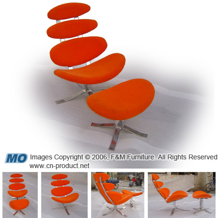 Supply Corona chair designed by Poul Volther 1961  - classic chair