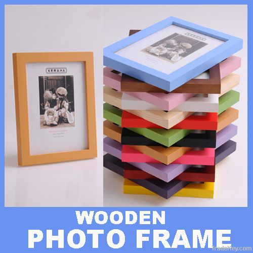 Fashion Solid Wooden Photo Frame made from Pine Wood