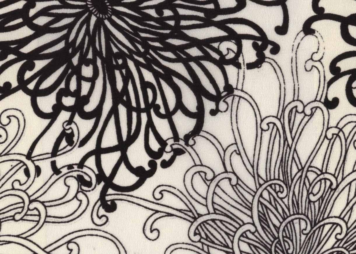 Exclusive prints on silk fabric