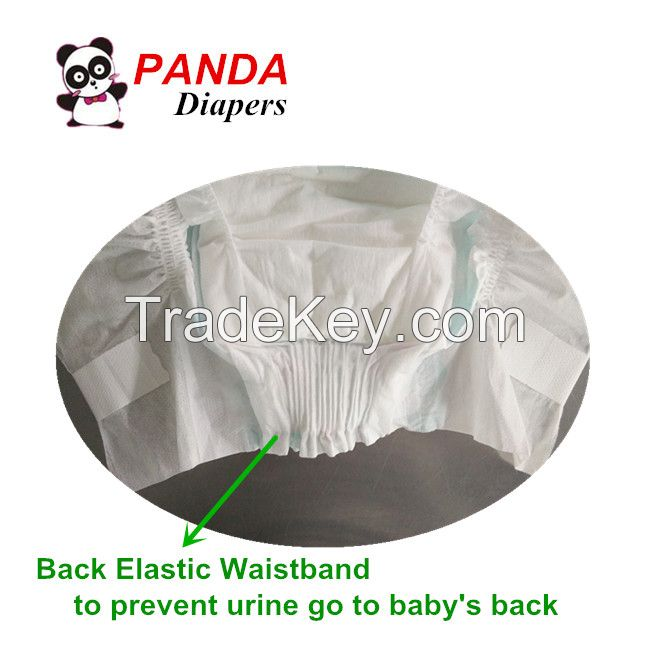 Baby Diapers with Back Elastic Waistband