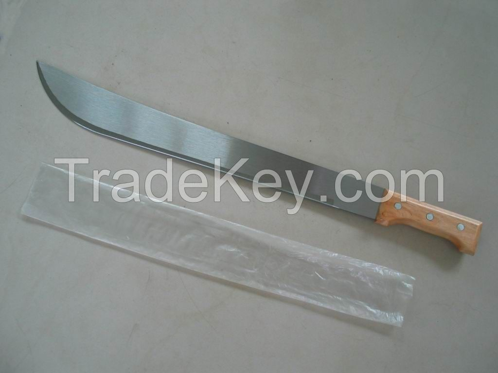 High quality machete knife M205 with wooden plastic handle