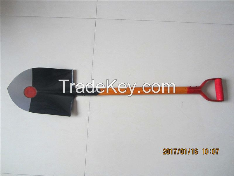 Garden Shovel Round Mouth S503 With All Steel Handle