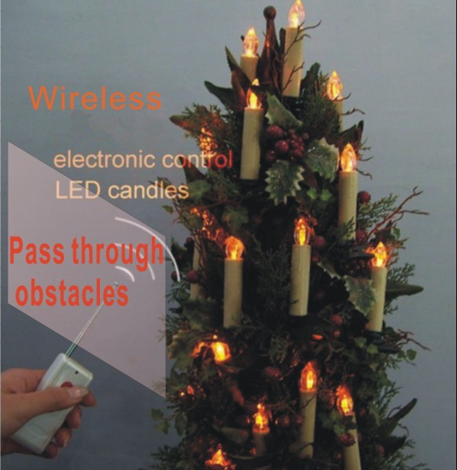 Wireless electronic Remote Control Christmas Candle LED light