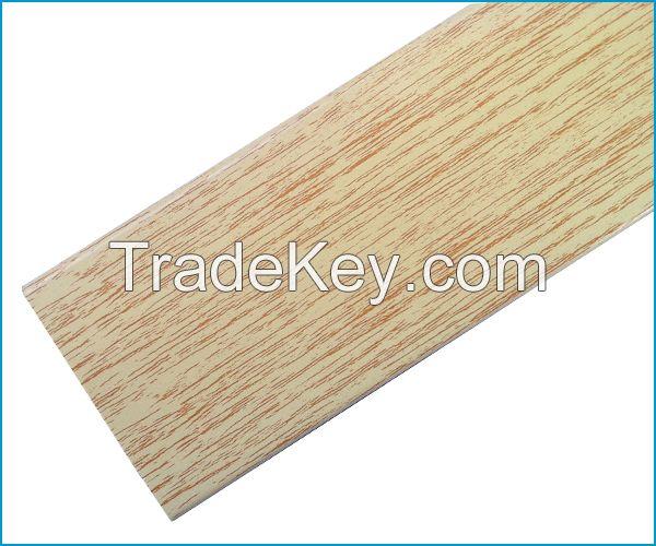 Faux wood blinds slats