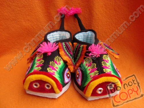 Chinese Traditional Handmade Tiger Baby Shoes
