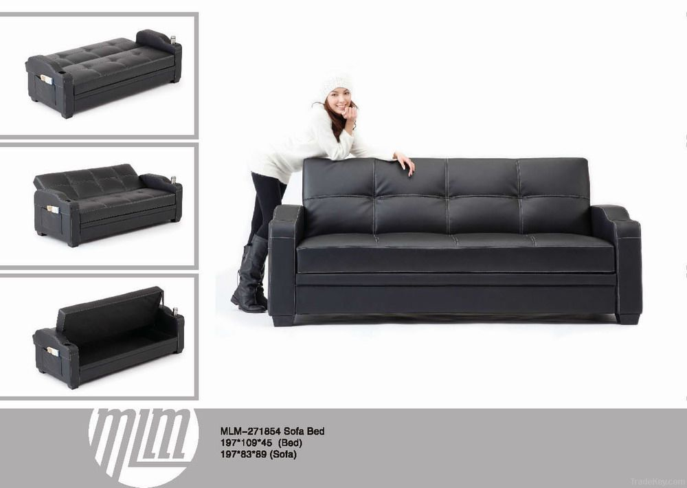 PU Synthetic Sofa Bed 3 Seat