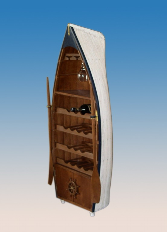 Decorative Row Boat Storage Cabinet By
