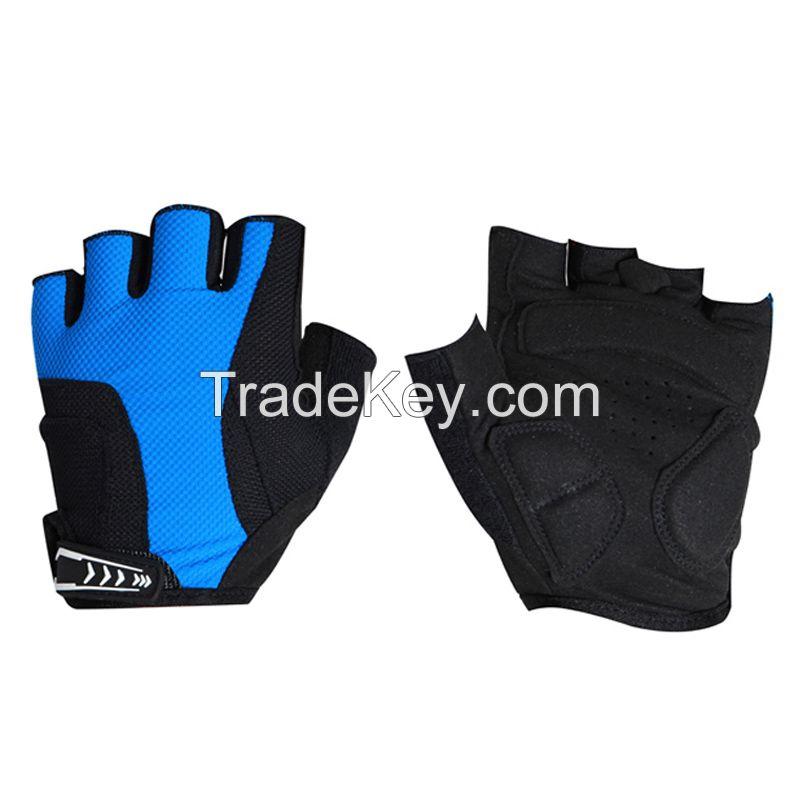 Cycling Bike Bicycle Microfiber Gel Padded Half Finger Fingerless Gloves Men or Women