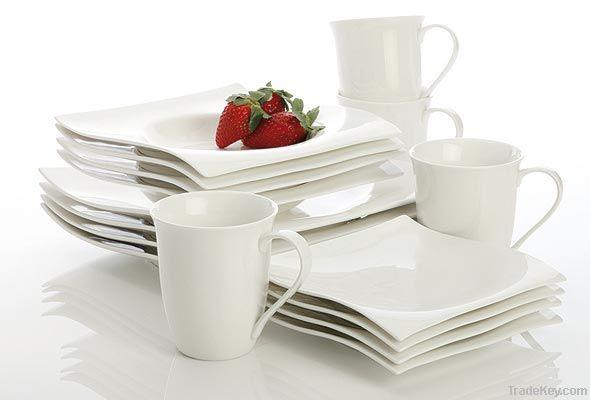 porcelain square dinner set, porcelain coffee mug, Tazón de cerámica