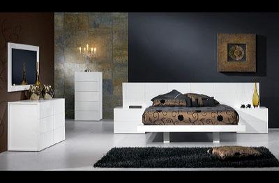 Miami White Bed Room
