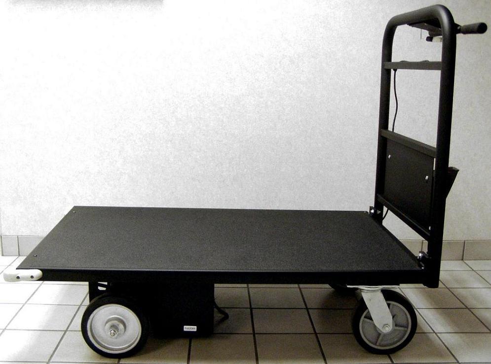 Motorized Material Handling Platform Cart