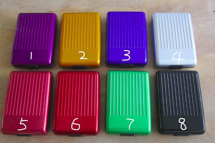 all in one aluminum wallet