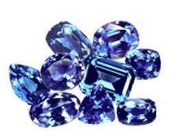 87 Carats Lot (2-10 Carats) Purple Blue Fine Tanzanite