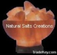 Crafted Crystal Rock Salt Lamp