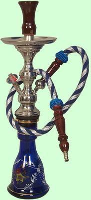 Shisha, Waterpipe, Wasserpfeife, Safari (Gals 22cm.) with one hose